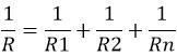 формула ток через резистор